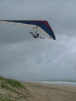 Flying on Avon Beach on Hatteras Island.   Perfect conditions for beach soaring.