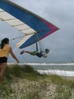 Flying strong SE breeze on Outer Banks.  Shane giving new meaning to 'parking' with his wife Lucia.